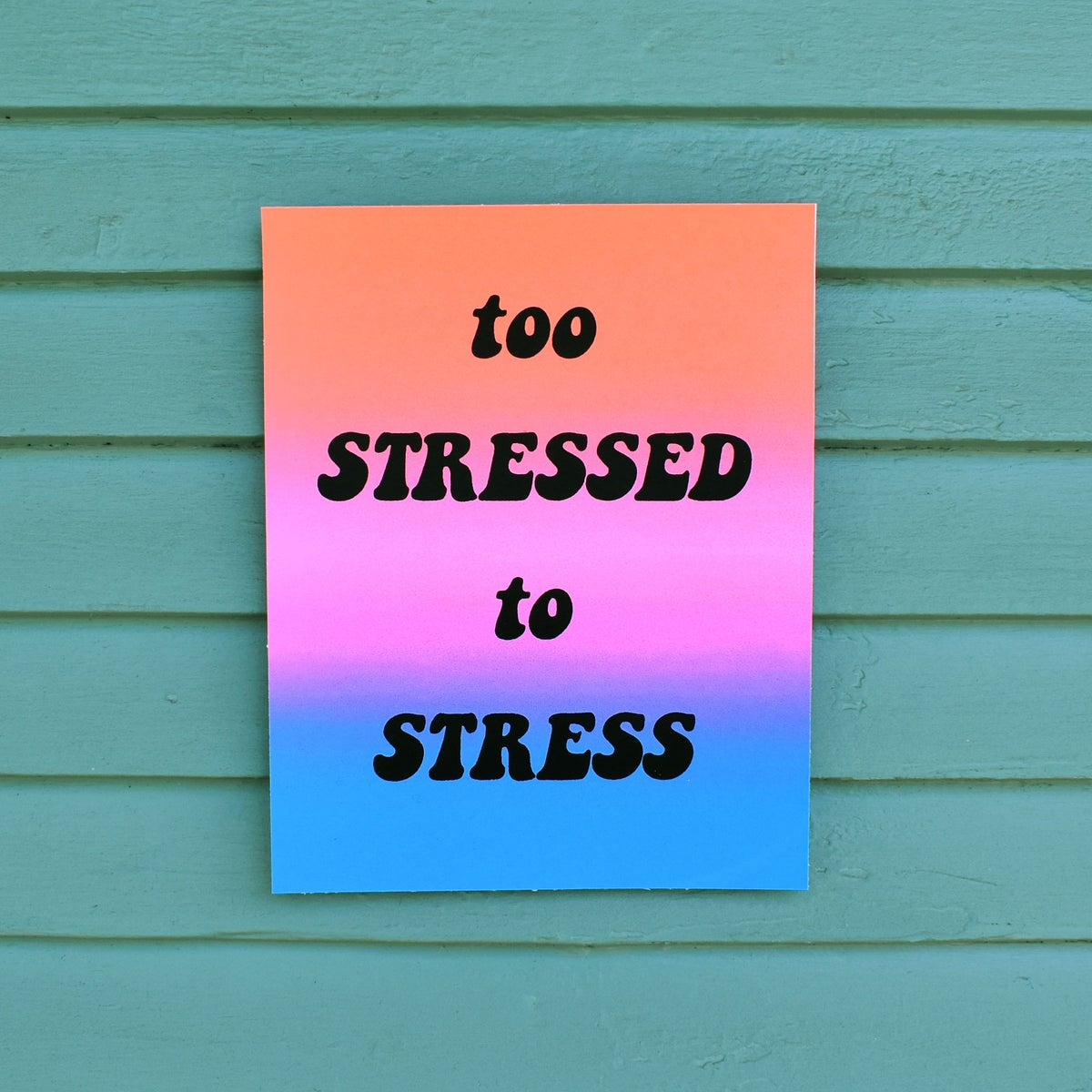 Image of Too Stressed To Stress