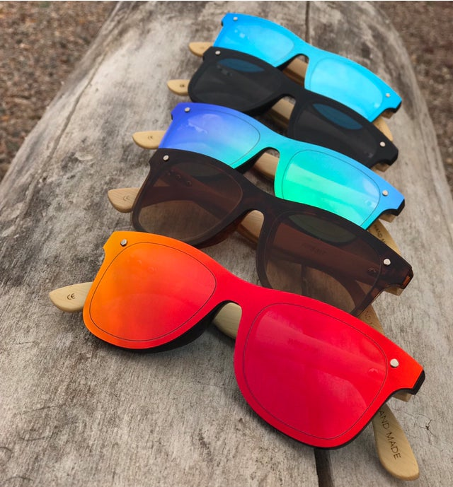 Image of Braap Polarized Sunglasses With Bamboo Arms