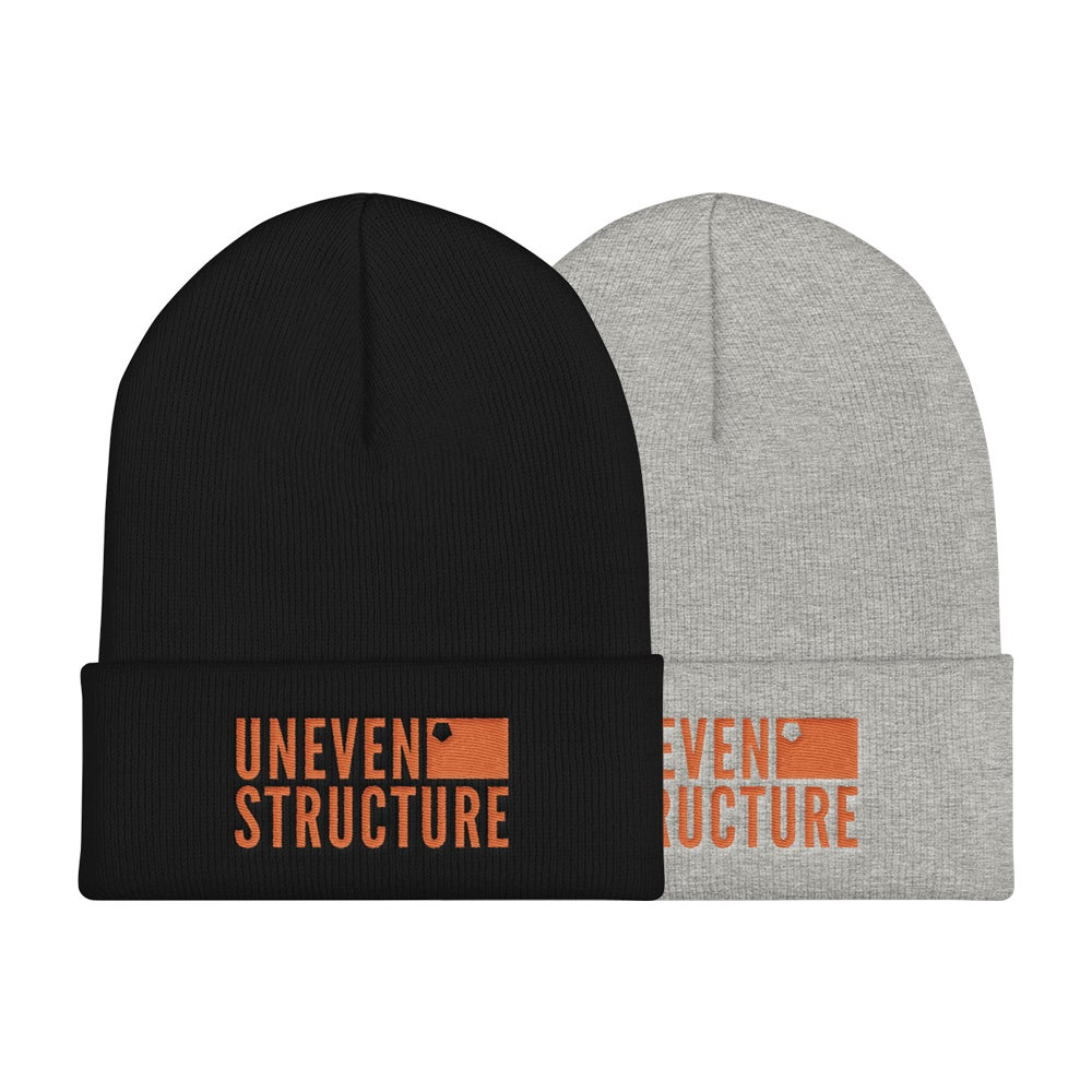 Image of 'Uneven Structure' Logo Beanie