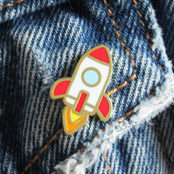 Image of Rocket Enamel Pin
