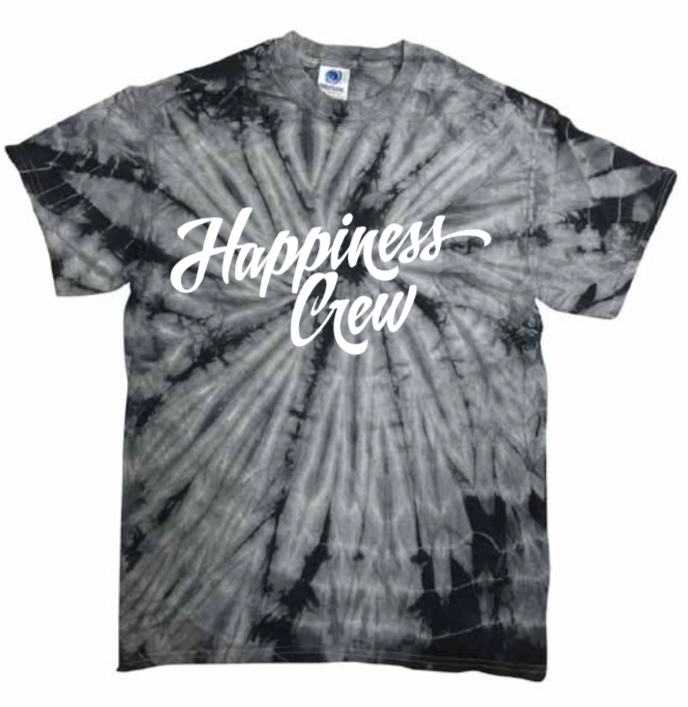 Image of Grey Retro Tie-Dye T-Shirt