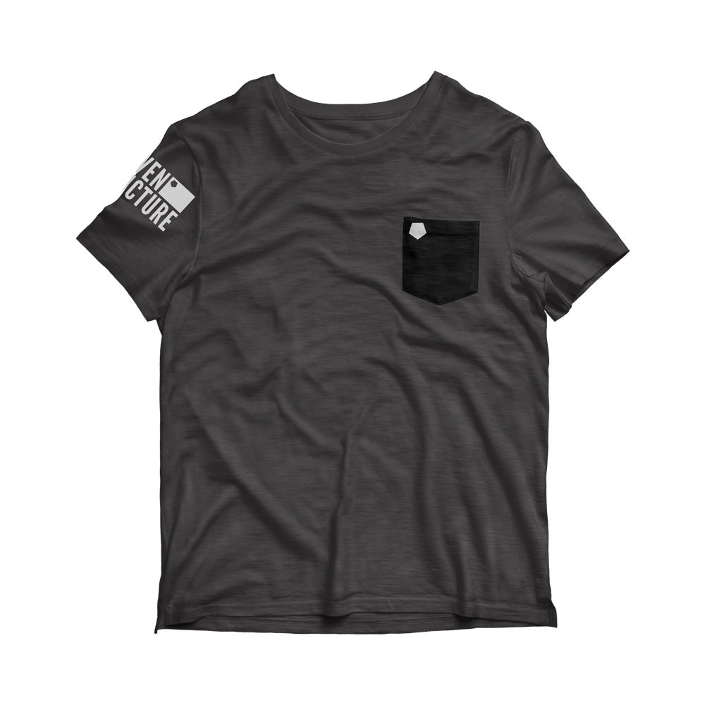 Image of 'Uneven Structure' Grey Pocket T-Shirt
