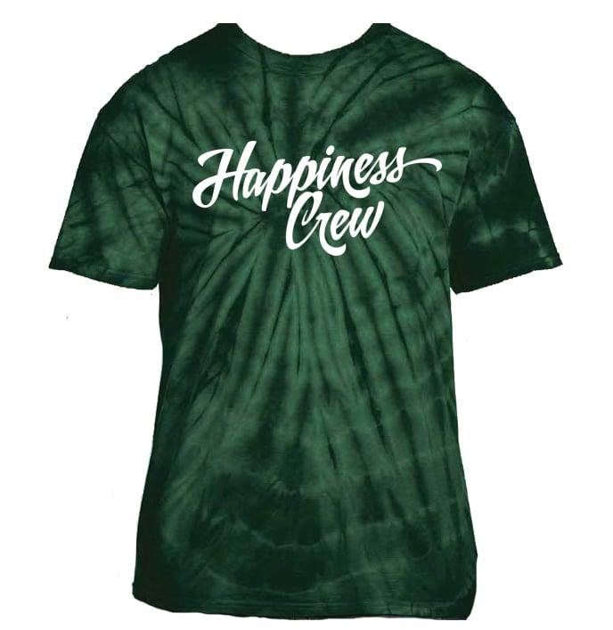 Image of Green Retro Tie-Dye T-Shirt