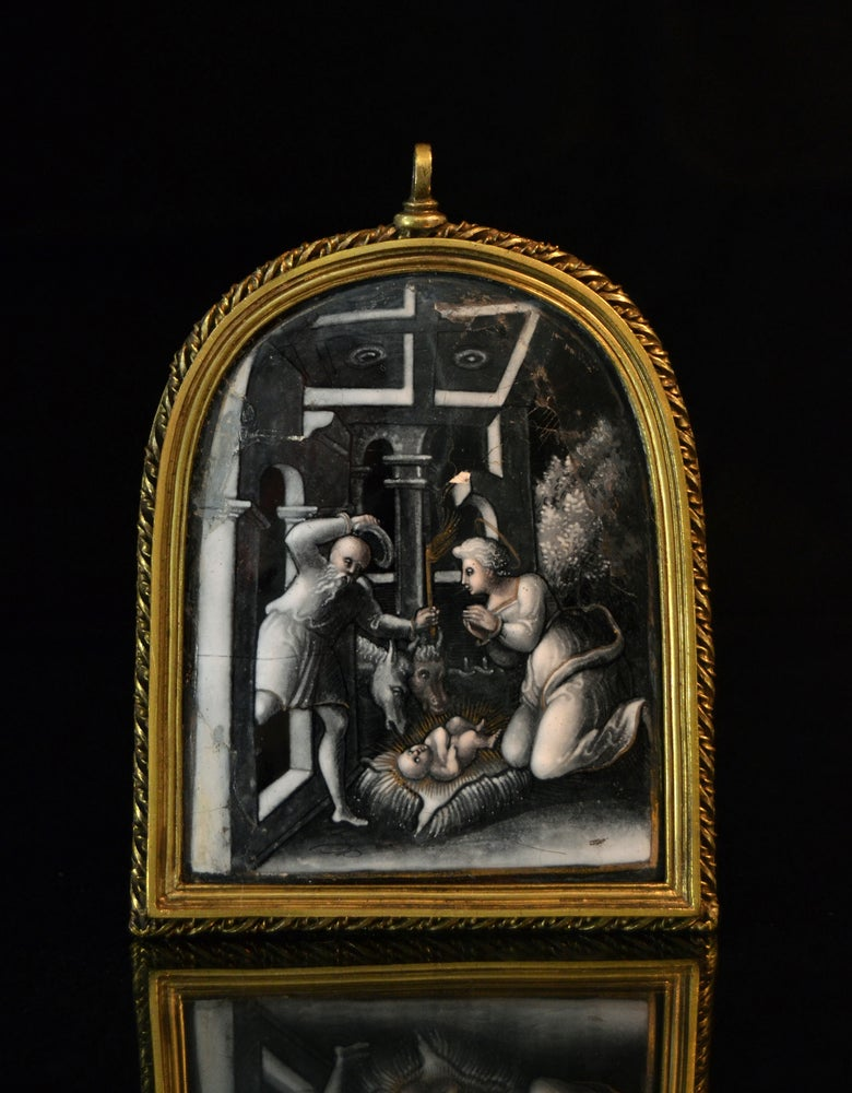 Image of A Limoges enamel of the Nativity attributed to Pierre Reymond or workshop