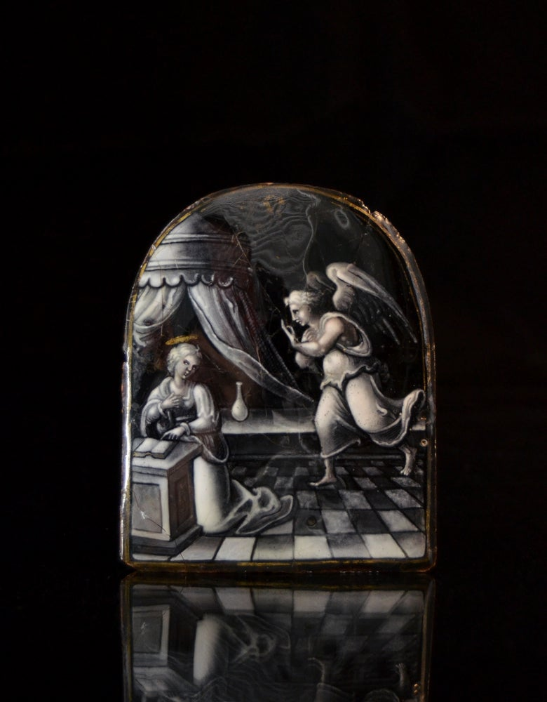 Image of A Limoges enamel of the Annunciation attributed to Martial Ydeux dit le Pape or Workshop