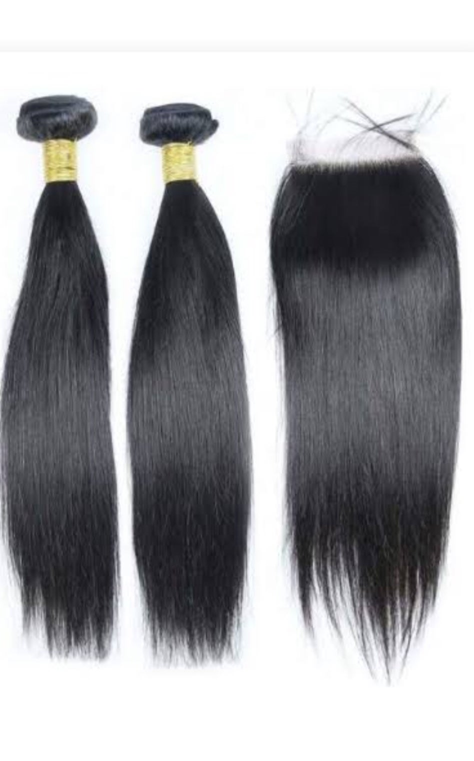 """Image of Two 14"""" bundles with 14""""closure"""