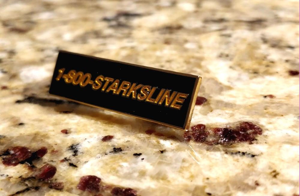 Image of 1-800-STARKSLINE Enamel Pin