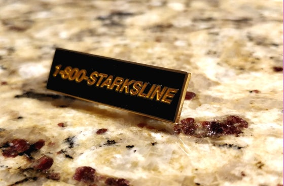 Image of 1-800-STARKSLINE Enamel Pin