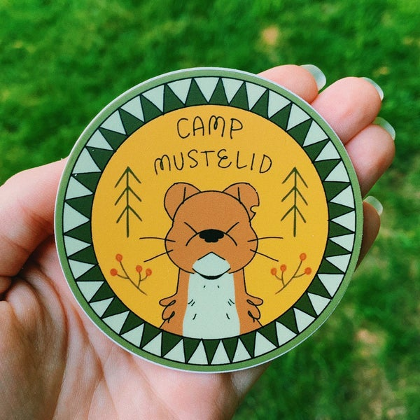 Image of camp mustelid STICKER