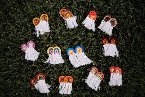 Image of Boho Rainbow Earrings
