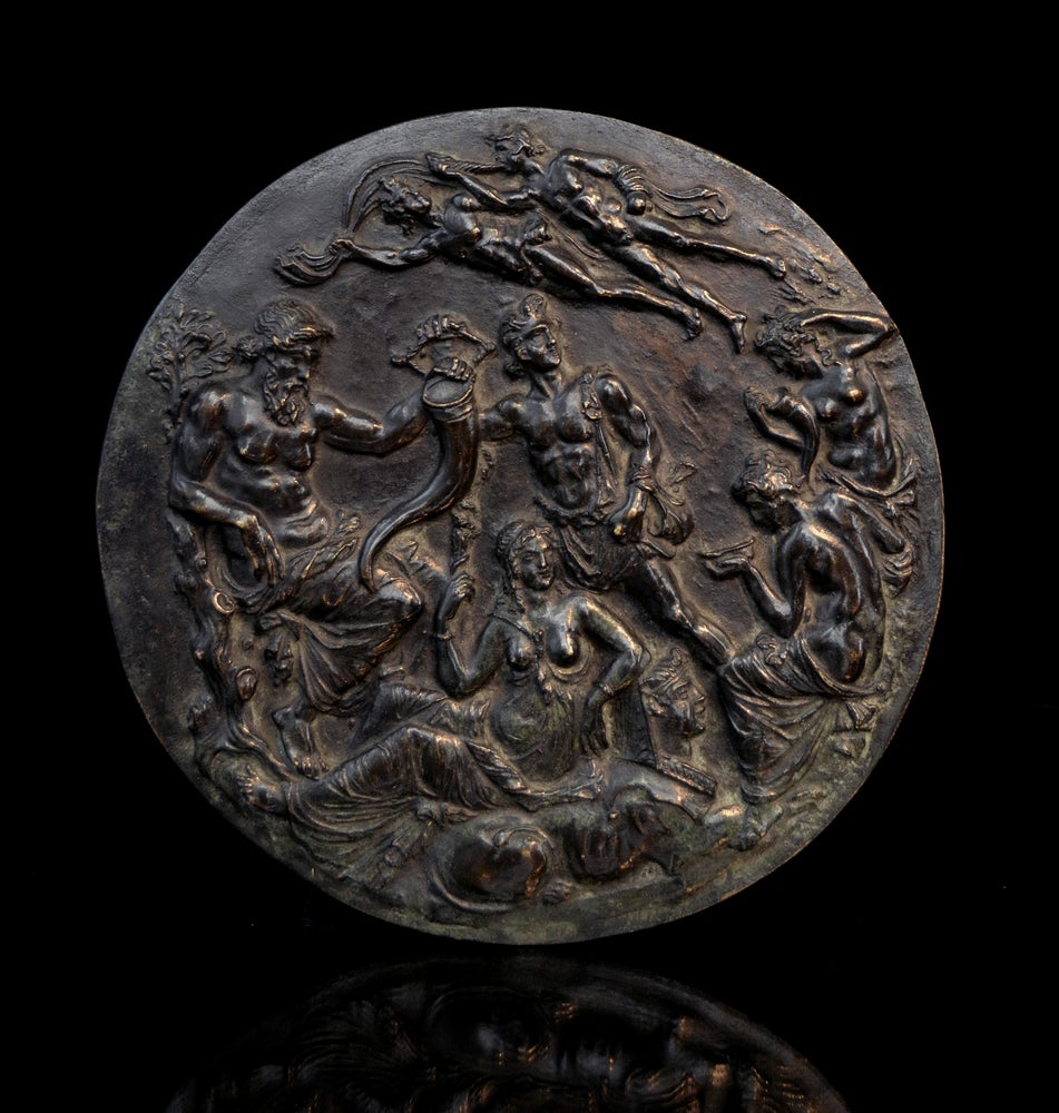 Image of A bronze cast of the Tazza Farnese, one of the most treasured survivals of antiquity