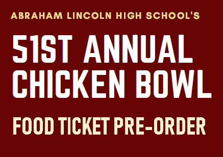 Image of Pre-order Food Tickets for Chicken Bowl