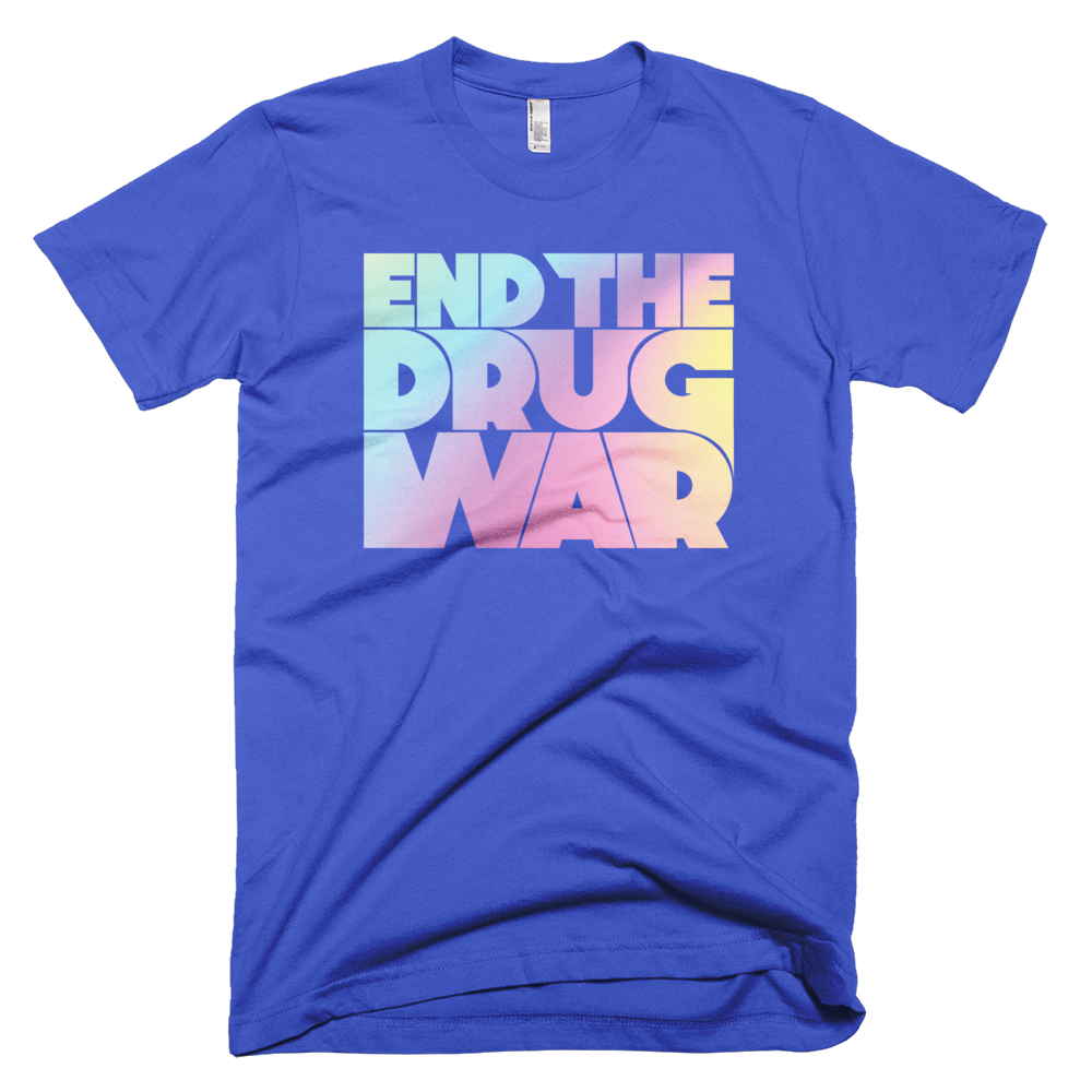 Image of End the Drug War T-Shirt Blue