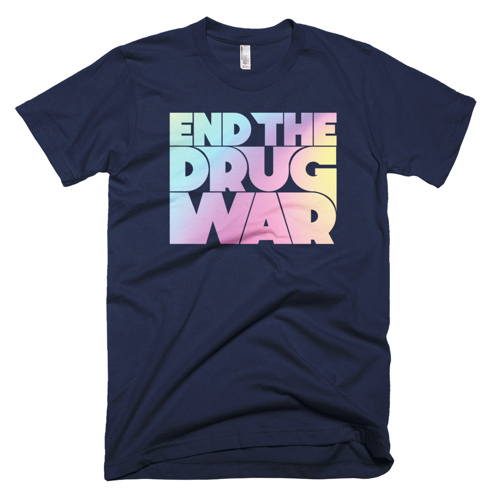 Image of End the Drug War T-shirt Navy