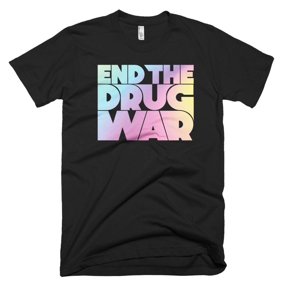 Image of End the Drug War T-shirt Black