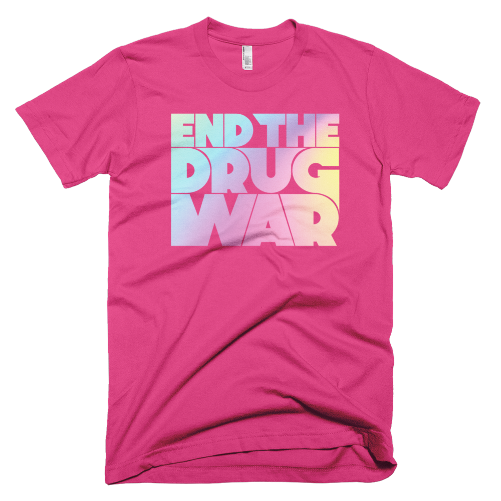 Image of End the Drug War T-shirt Pink
