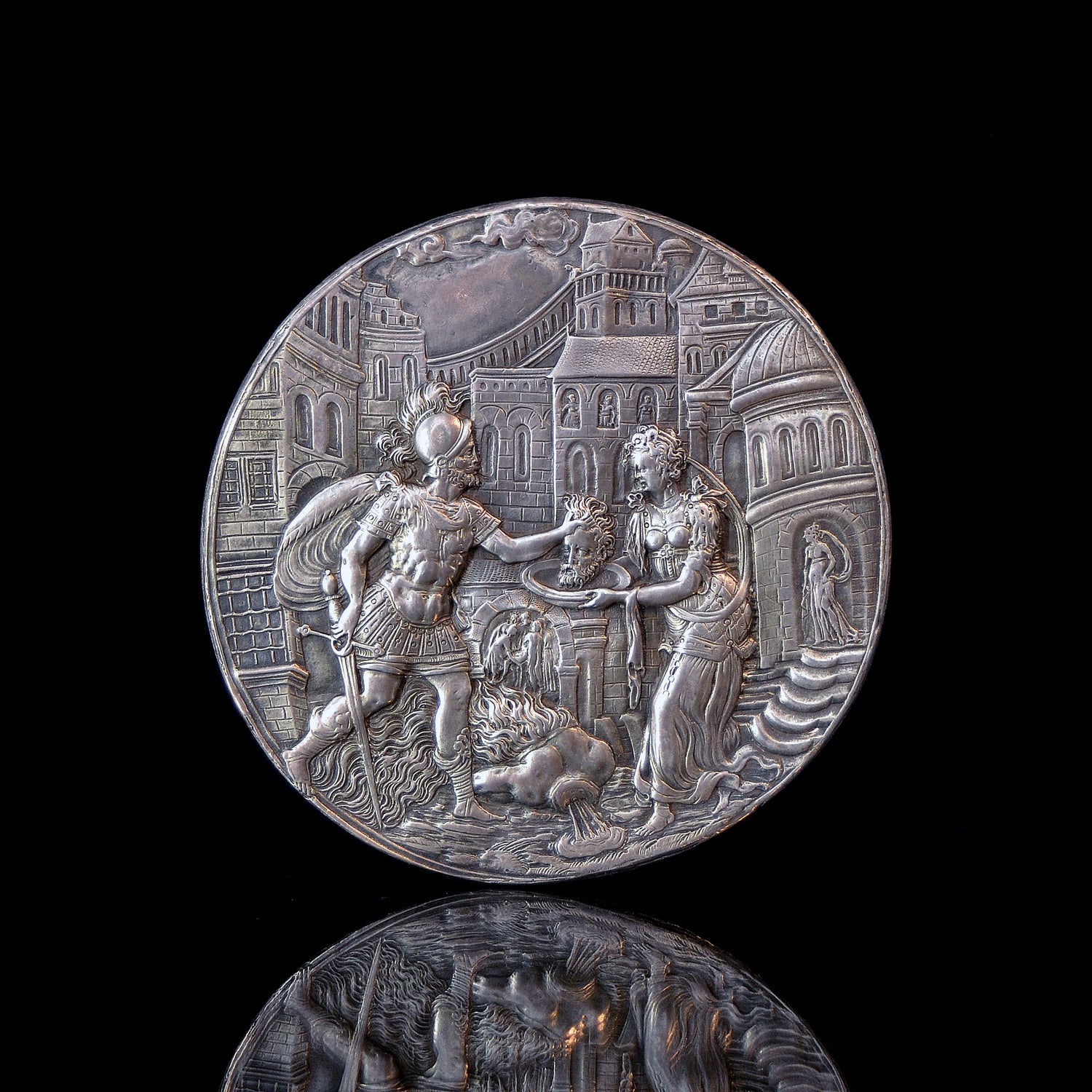 Image of A Silver relief of Salome and the Beheading of John the Baptist