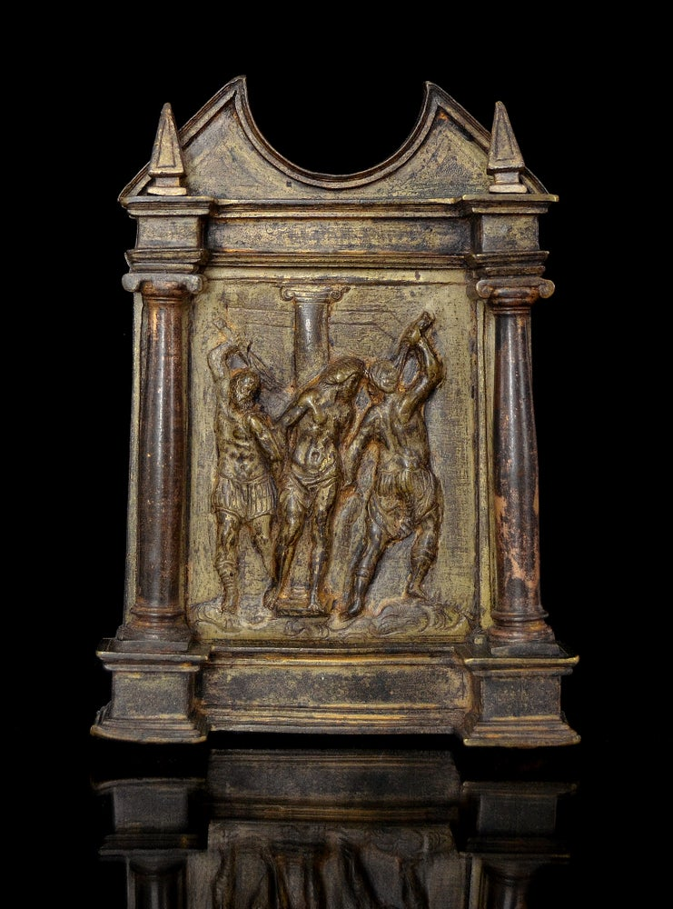 Image of A Renaissance bronze pax from the Circle of Francisco de Alfaro
