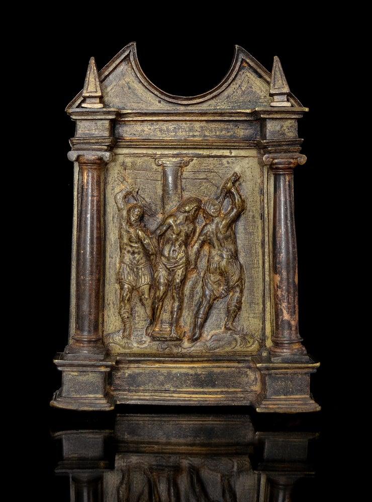 Image of A Renaissance bronze pax from the Circle of Francisco de Alfaro