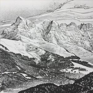 Image of Dents du Midi A3 print