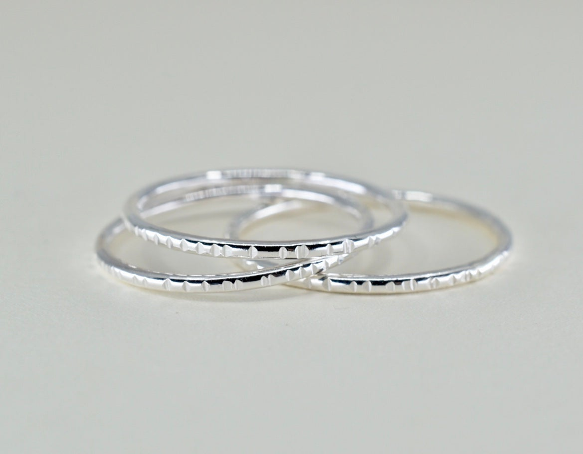 Image of Little Textures Ring in Sterling Silver