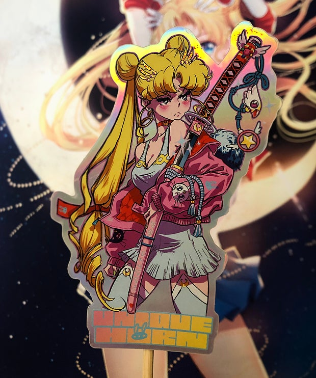Image of 💖 Sticker Sailor Moon Katana / Sailor Moon Katana sticker 💖