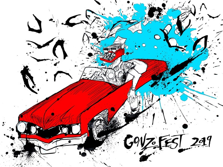 Image of Gonzofest 2019 print