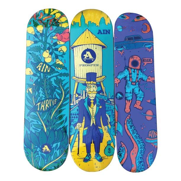 Image of Thrive, Prosper, Rise Skateboards
