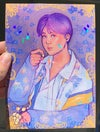 Grape Yoongi (holo print)