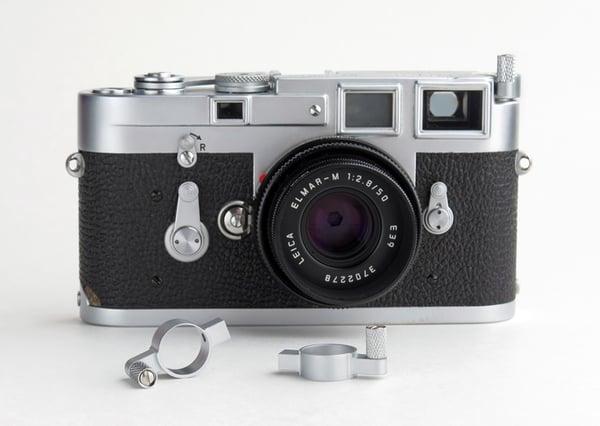 Image of SOOM Leica M Film Rewind Lever - Classic Silver Matte Chrome
