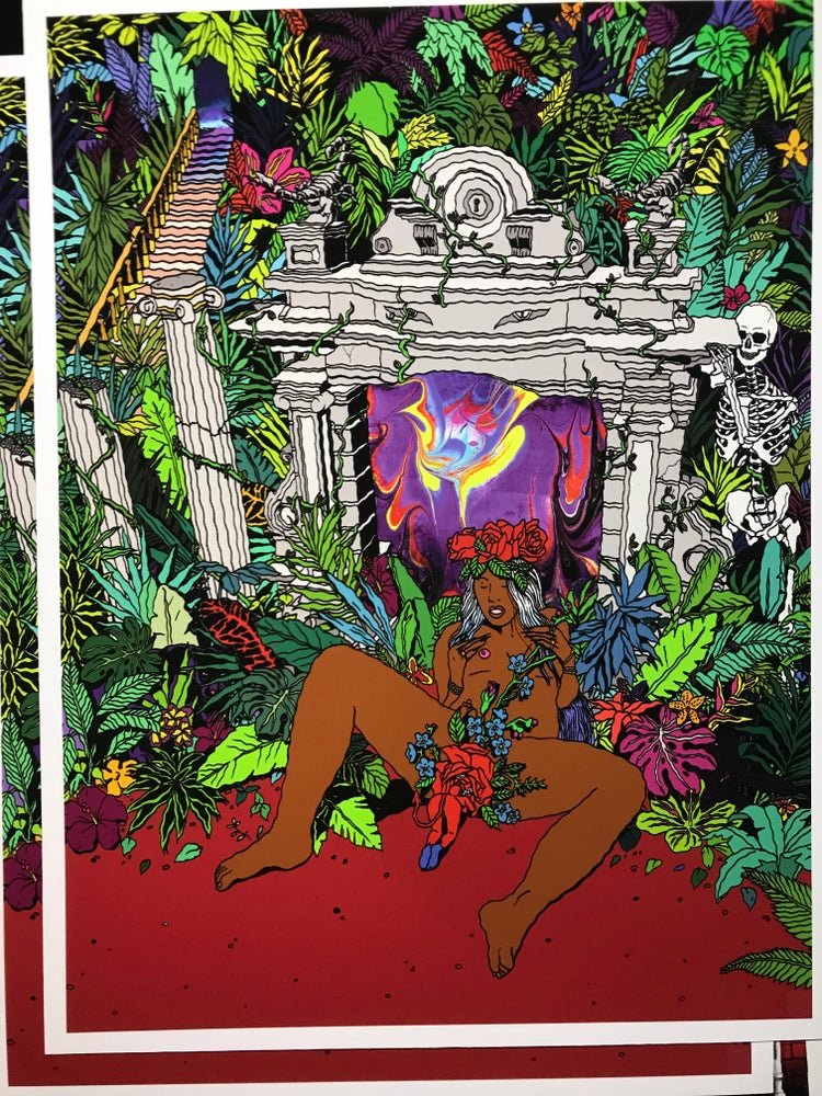 Image of Ensnared in The Mysteries of the Amazon Jungle print