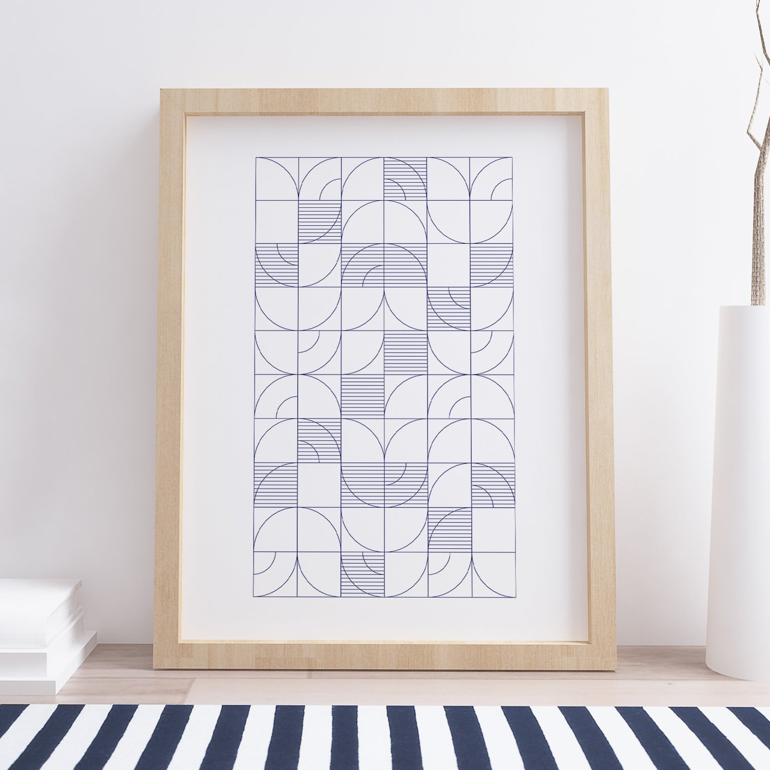 Image of Geometric Harvest Art Print