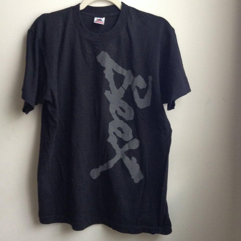 Image of BEEX logo sideways T-shirt