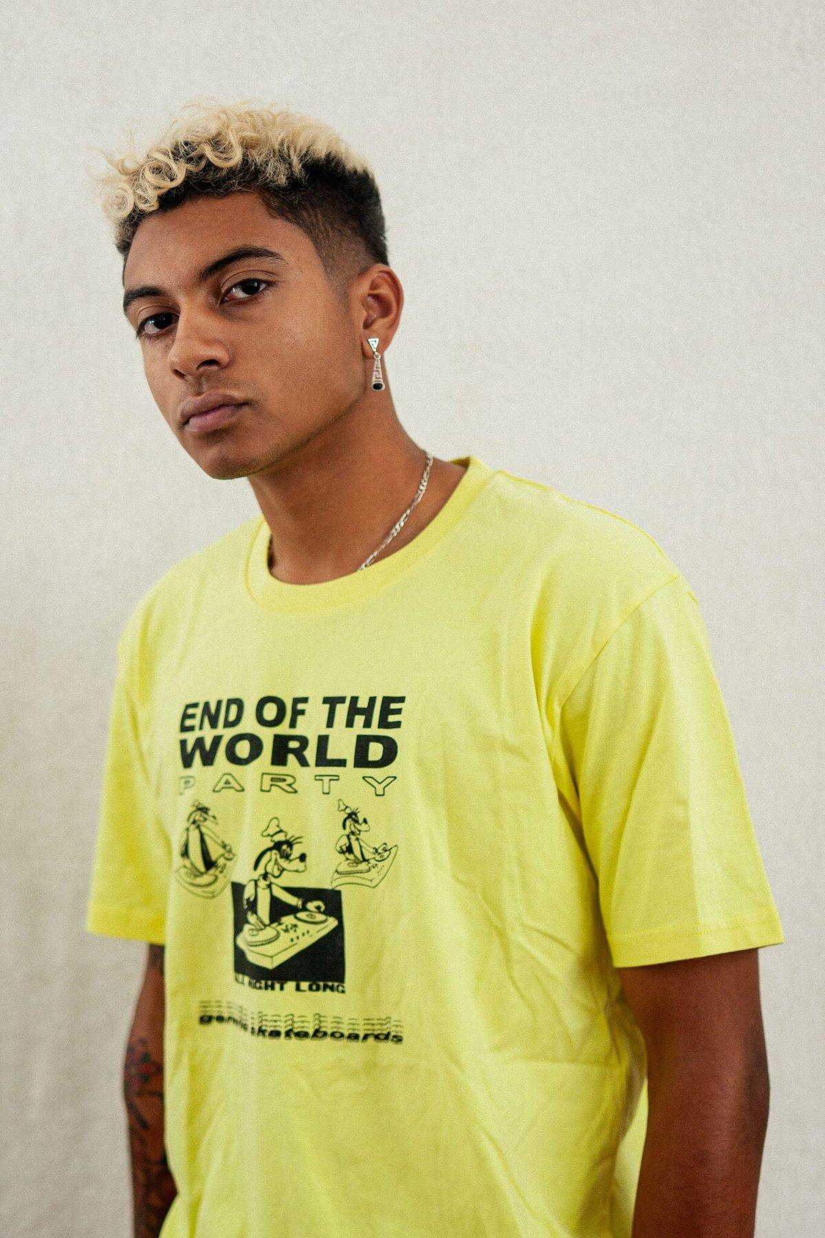Image of End Of World Tee Yellow