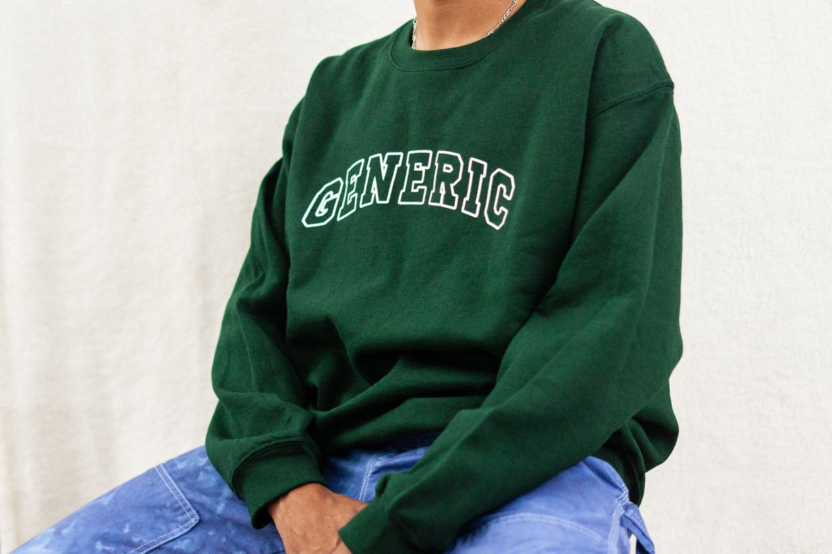 Image of College Crewneck Forest Green