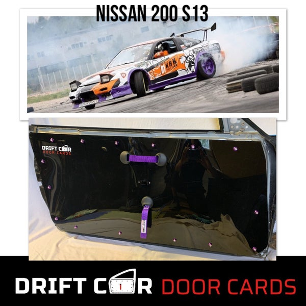 Image of Nissan S13 Drift Car Door Cards - New handle design