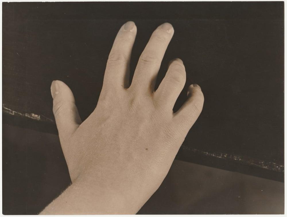 Image of Aldo Palazzi editore: 'Mani', female hand, 1961