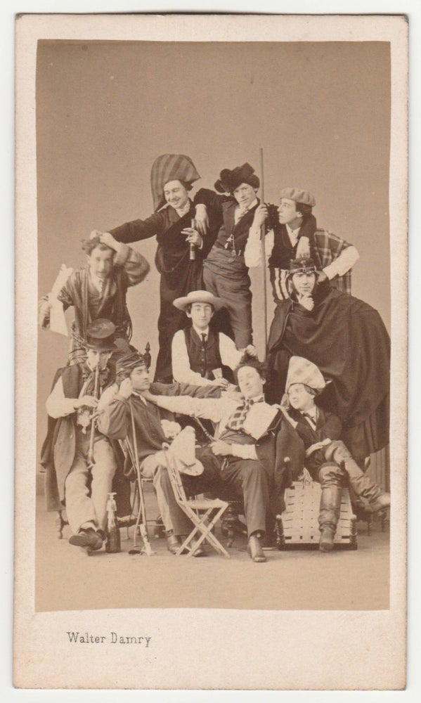 Image of Damry: group of actors, Liège ca. 1865