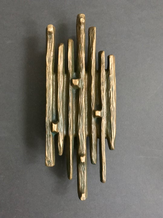 Image of  Large Brutalist Bronze Door Handle, Mid-20th Century European