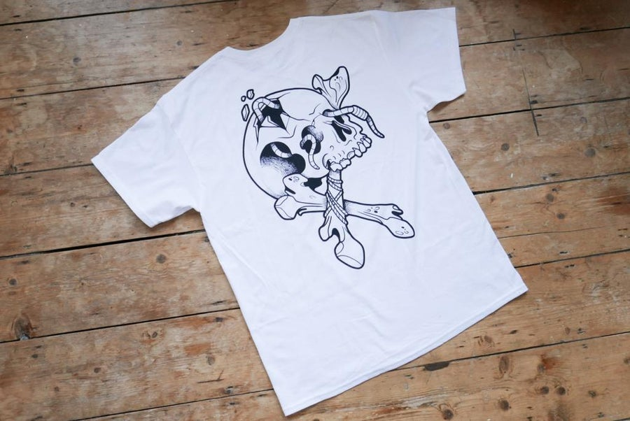 Image of Skull and bones tee by Benny smalls