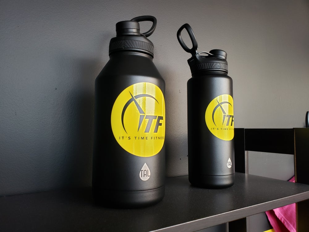 Image of Yellow Decal Water Canister 64oz