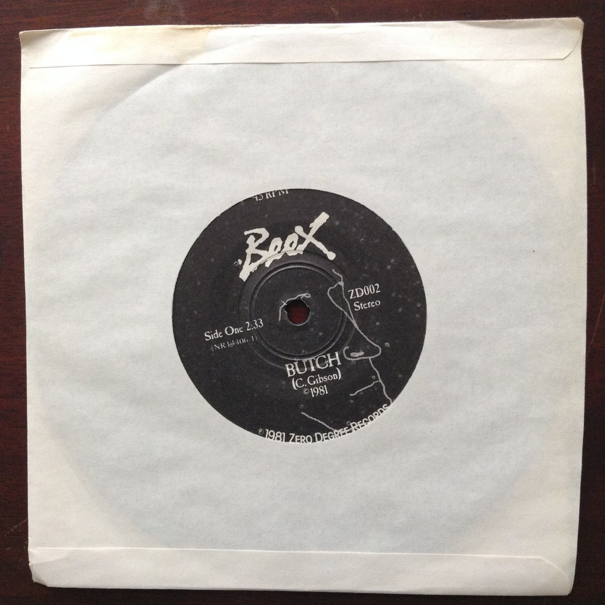 """Image of Butch/Empty House 7"""" 45 record 1981 (original)"""