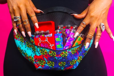 Image of Trippy Paint Palette Fanny Pack