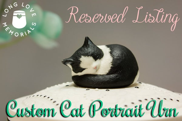 Image of Reserved for K.F. - Custom Pet Portrait Urn