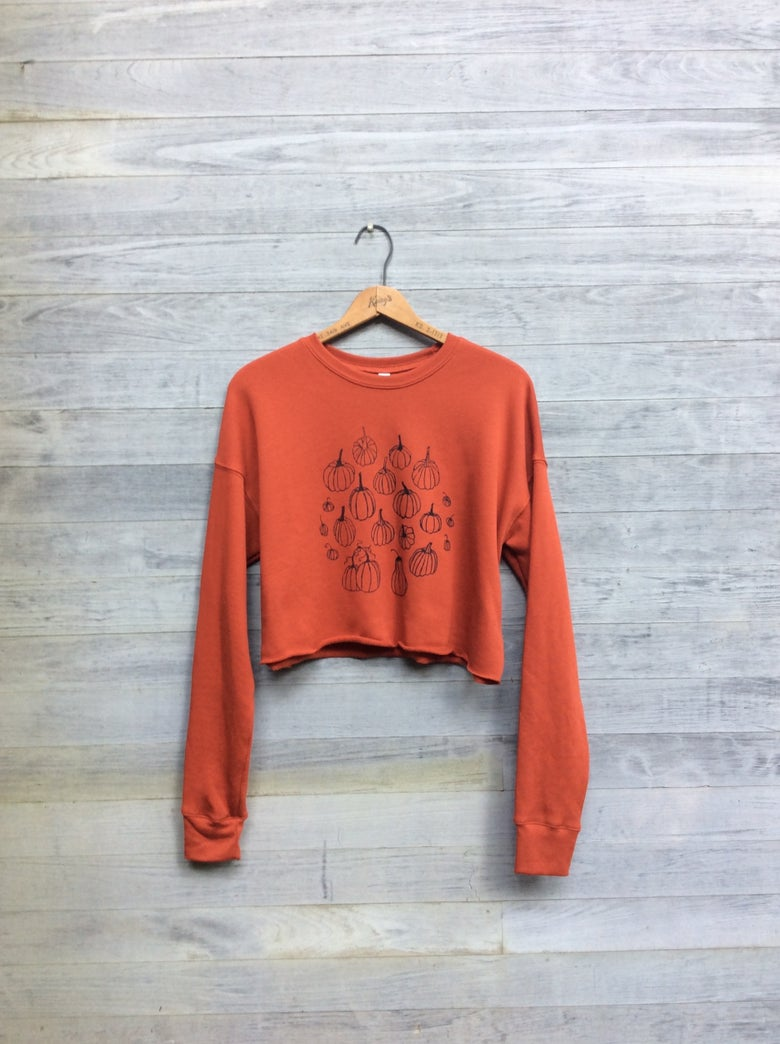 Image of Pumpkin Patch Cropped Sweatshirt