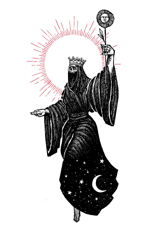"""Image of """"Queen of Wands"""""""" 8.5""""x11"""" Watercolor Print"""