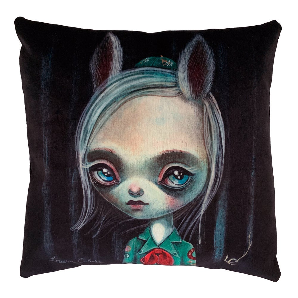"Image of ""Campfire Girl"" Pillow"