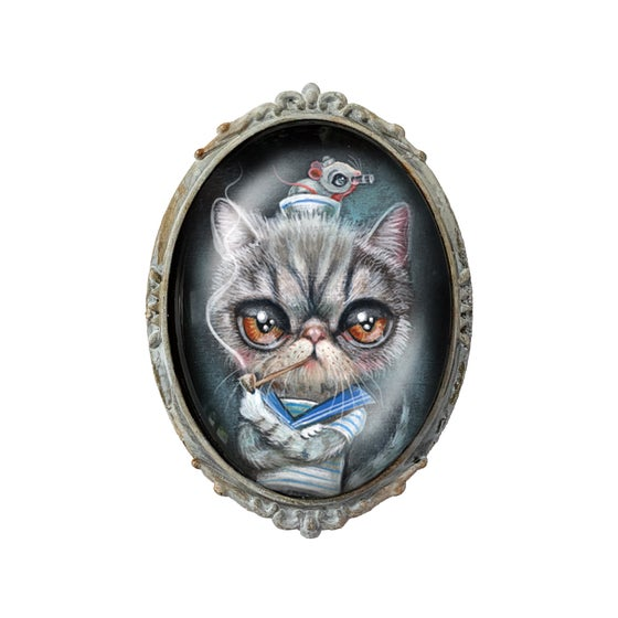 "Image of ""Sailer Kitty"" Brooch"