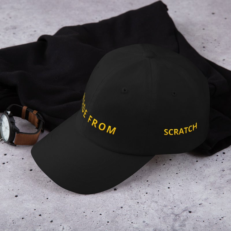 Image of Made From Scratch - Black Dad Hat
