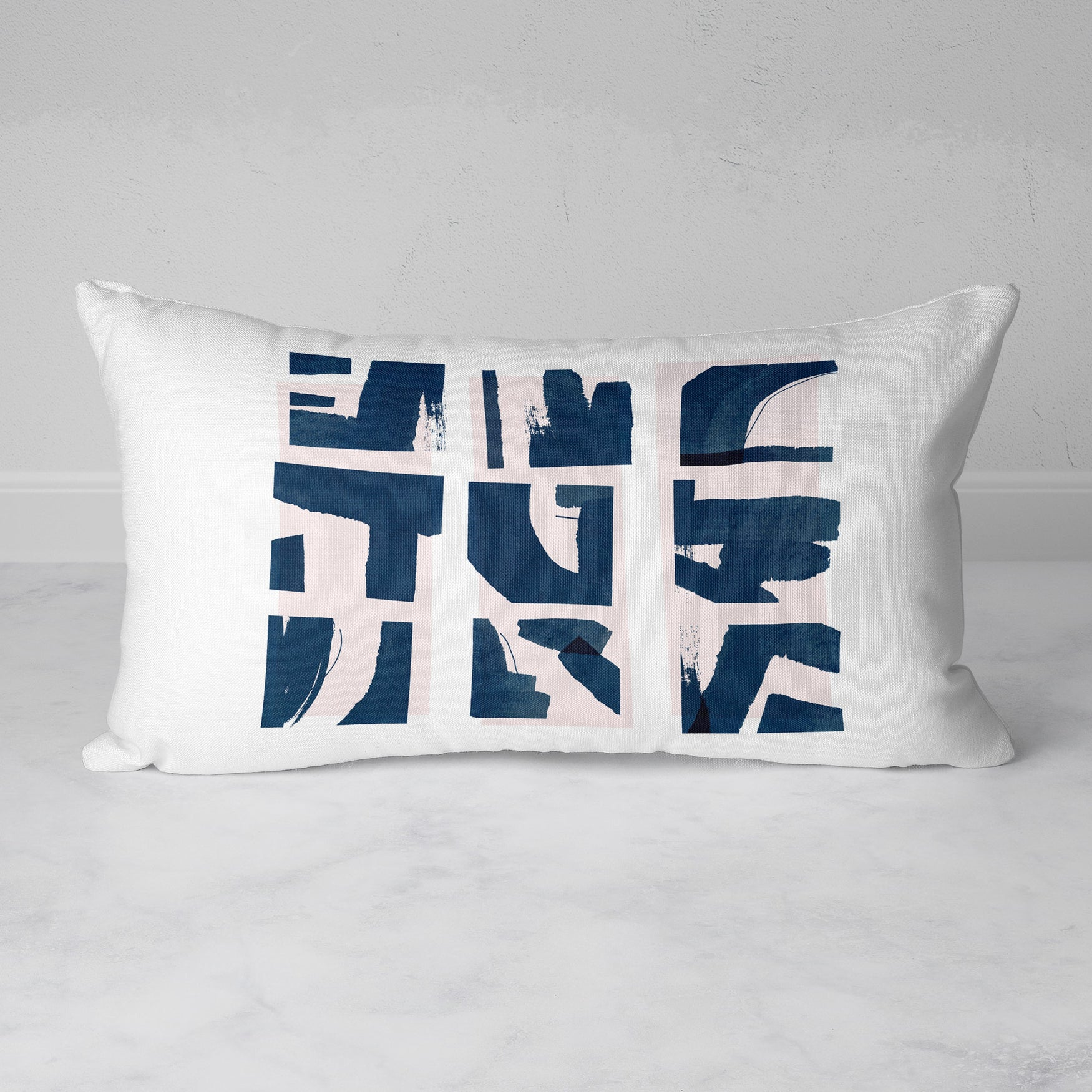 Image of Fractured Rectangular Throw Pillow
